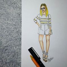 ▫▪ #draw #drawing #fashion #love #stripes #fashionillustration #illustration #instagood #handmade #moda #lookdodia #lookoftheday #fashiondesign #designdemoda #fashionista #inlove #croqui