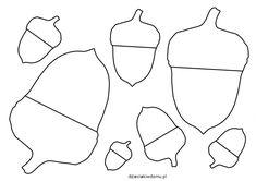 szablon żołędzi Crafts For Kids, Autumn, Therapy, Crafts For Children, Crafts For Toddlers, Kid Crafts