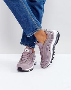 competitive price 0a5bc 28a51 Nike Air Max 97 Premium Trainers In Taupe Air Max Sneakers, Grey Sneakers,  Sneakers