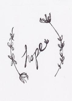 """""""Hope"""" Ink 5x7 -Kendra Castillo Artwork"""