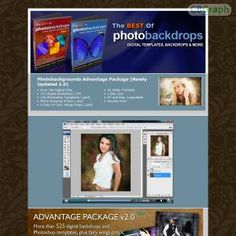 Photo Backdrops And Templates Over 585 Digital Files - 375 Digital Backdrops (.tif) - 126 Photoshop Templates (.psd) - Photo Drawing Action (.atn) - 9 Sets Of Fairy Wings Props (.psd) # 31 Video Tutorials # 2 Disc Set # For PC And Mac See more! : http://get-now.natantoday.com/lp.php?target=pbkgnds