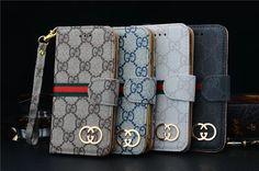 Gucci Ledertasche mit goldem Logo für iPhone 5/5S/6, Samsung Note2/3, Samsung Galaxy S3/S4/S5 - spitzekarte.com