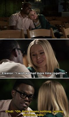 When Chidi and Eleanor relived all of their best moments together before Chidi's memories were erased on The Good Place. 60 TV Couple Moments From 2019 That We're Still Obsessed With The Answer To Everything, Everything Is Fine, Veronica And Logan, Time Meaning, Place Quotes, Fitz And Simmons, Couple Moments, Clary And Jace, Betty And Jughead