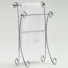 Taymor Industries Inc. Free Standing Two Tier Curled Towel Rack
