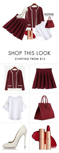 """""""Romwe #3/1"""" by s-o-polyvore ❤ liked on Polyvore featuring Mansur Gavriel and Dsquared2"""