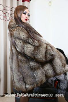 Going Shopping in My Indigo Fox Fur Stroller, Should Turn a Few Heads... www.fetishmistressuk.com