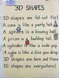 3D Shapes poem