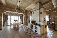 Деревянный дом из бревна с элементами модерна 10
