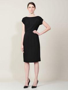 Simple black dresses always work for me...