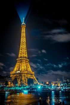 The beautiful Eiffel tower in Paris at night.by Sabino Parente Paris At Night, Paris Psg, Paris Paris, Torre Eiffel Paris, France Eiffel Tower, Eiffel Towers, Paris Tour, Paris Wallpaper, Beautiful Paris