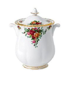 "ROYAL ALBERT OLD COUNTRY ROSES 10"" COOKIE JAR / CANISTER - NEW"