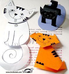 Hacer gatos de papel: 3 ideas | Aprender manualidades es facilisimo.com