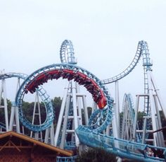 Drachenfire at Busch Gardens. I was one of the few people in the world who enjoyed this ride, and figured out how to ride it without getting my head beat to a pulp.