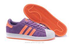 Adidas Superstar II Chaussures Orange Pourpré Femmes