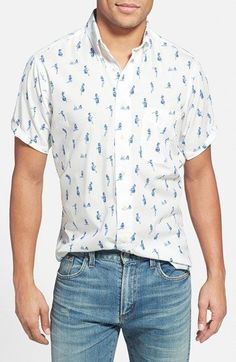 Gitman Regular Fit Short Sleeve Print Sport Shirt available at #Nordstrom