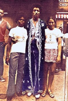 Jimi Hendrix in Harlem, New York City, New York (1969)