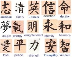 Good luck characters more chinese symbols tattoo design henna tattoo