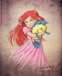 Ariel - i want to have these on the wall in a nursery if i ever have a girl