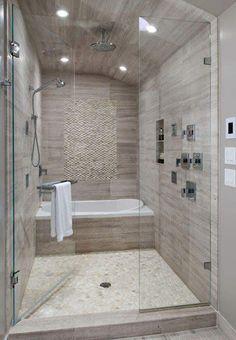 small bathroom with tub.small bathroom with tub remodel.small bathroom with tub shower.small bathroom with tub layout.small bathroom with tub and shower.small bathroom with tub and walk in shower.small bathroom with tub design. Bathroom Tub Shower, Bathroom Renos, Bathroom Interior, Bath Tubs, Master Shower, Bathroom Layout, Vanity Bathroom, Bathroom Cabinets, Dyi Bathroom
