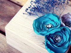 Mint Blue Autumn - Teal Ring Bearer Wooden Box by weddingsundae #wedding #pillow #natural #flowers #nature #wedding #autumn #ringbearer #ringpillow #rustic #keepsake #box #teal #blue #turquoise $27.00