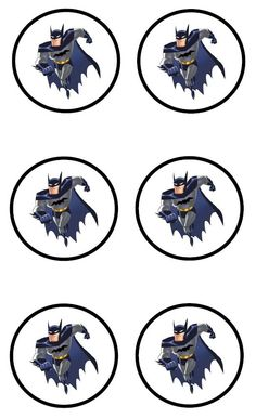 BATMAN STICKERS  --   or cupcake toppers, or both.: