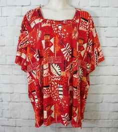 Womens Plus LIZ & ME Floral Square Neck Short Sleeve Knit Top Size 5X…