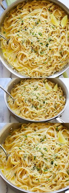 Creamy Garlic Parmesan Fettuccine - one-pot pasta with creamy garlic sauce and…