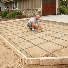 Good finishing techniques will make a slab look great for a while, but proper ground prep will keep it looking that way over its lifetime. Pouring Concrete Slab, Diy Concrete Slab, Concrete Forms, Concrete Projects, Concrete Blocks, Cement Tools, Concrete Casting, Farm Projects, Concrete Houses