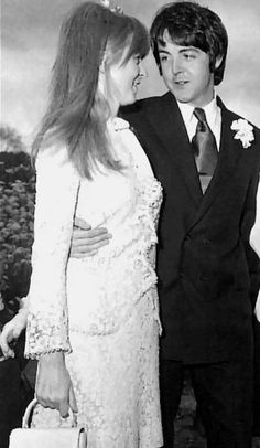 Jane Asher - Paul McCartney presents his new girlfriend on mike's mccartney's wedding