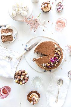 chocOlate hazelnut sponge cake with frangelico cream & chocolate ganache