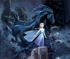 Elsa and Nokk the Water Spirit horse from Frozen 2 Disney Princess Frozen, Disney Princess Pictures, Princess Art, Elsa Frozen, Disney Fan Art, Disney Love, Disney Magic, Disney Dream, Disney And Dreamworks