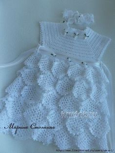 Mesh ruffles baby dress free crochet pattern ⋆ Crochet Kingdom