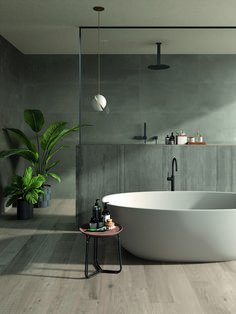 Sleek and Sultry Bathroom bathtub Gorgeous Bathroom Tiles You Need in Your Life . Bad Inspiration, Bathroom Inspiration, Bathroom Ideas, Bathroom Showers, Bathroom Organization, Modern Bathroom Design, Bathroom Interior Design, Modern Bathtub, Interior Livingroom