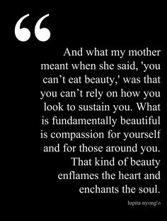 """Love this quote from Lupita Nyong'o's incredible """"Black Women in Hollywood"""" speech."""
