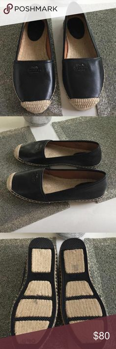 ‼️MAKE AN OFFER‼️Coach Slip-Ons ✨New never worn Coach leather Espadrilles Coach Shoes Espadrilles