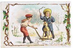 1910s ART Postcard Kids Hobbyhorse   eBay