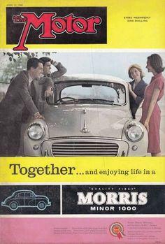 Morris Traveller, Morris Minor, Car Magazine, Small Cars, Old Cars, Vintage Ads, Classic Cars, British Car, Advertising