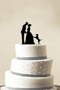 Custom Wedding Cake Topper -- Cake Decor - Bride and Groom Cake Topper