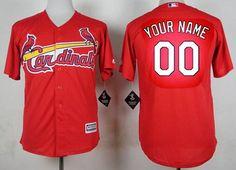 Men's St. Louis Cardinals Customized Red Jersey