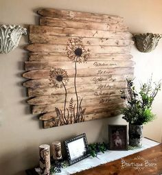 Löwenzahn Wand Kunst große quadratische Blume Holz Pictur - Tiny Haus Familie Idee - Dandelion Wall Art Large Square Flower Wood Picture Rustic Reclaimed Wood Country Home Farmhouse Decor Bedroom Dining Family Room Löwenzahn … - Reclaimed Wood Wall Art, Rustic Wall Art, Rustic Walls, Wood Art, Rustic Decor, Wall Wood, Pallet Wall Art, Country Decor, Rustic Wood