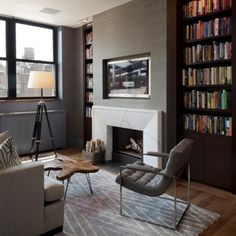 Terrific tailored space with great materials and textures amongst darker neutrals.