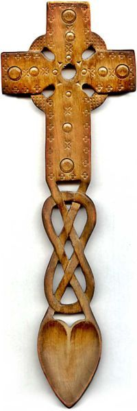 celtic spoon | Celtic Love Spoon - what is seen cannot be unseen