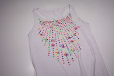 summer colorful rhinestud top made by fashionstrass.