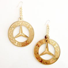Mirrored gold acrylic with etched detail. Gold fill earring hook for pierced ears.
