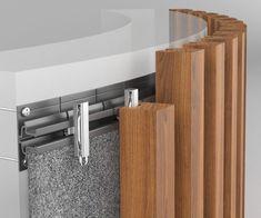 Timber Click-on Battens Tech Info – Sculptform – Woodworks Ceiling Design, Wall Design, House Design, Interior Walls, Interior Design, Timber Battens, Curved Walls, Wall Cladding, Cladding Ideas