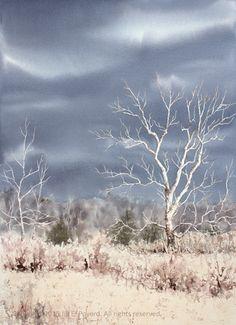 Sycamore Valley (watercolor, 16 x 22)