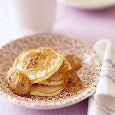 Banana Pancakes Recipe - I've tried a few pancake recipes from scratch and I haven't liked any of them.  I did like this one, they were very light and fluffy. I added mashed banana and chocolate chips, with fresh whipped cream and blueberries....very good