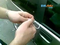 Unlock your car from the outside with a shoelace. WOW! Quick and easy and sure beats a slimjim!!