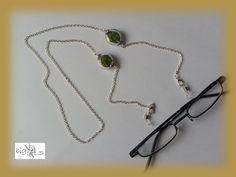 #Brillenkette echtes #Moos silber von bigXel-#Naturschmuck und Wollkunst auf DaWanda.com