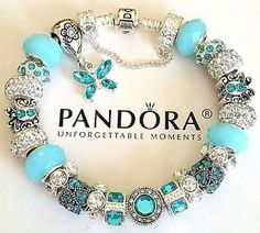 NEW-Authentic-PANDORA-Sterling-Silver-BUTTERFLY-BRACELET-with-European-CHARM-49